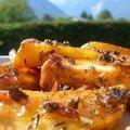 Pommes de terre à la lavande et son magret au BBQ