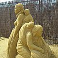Les statues de sable. Le <b>Touquet</b> Paris-Plage