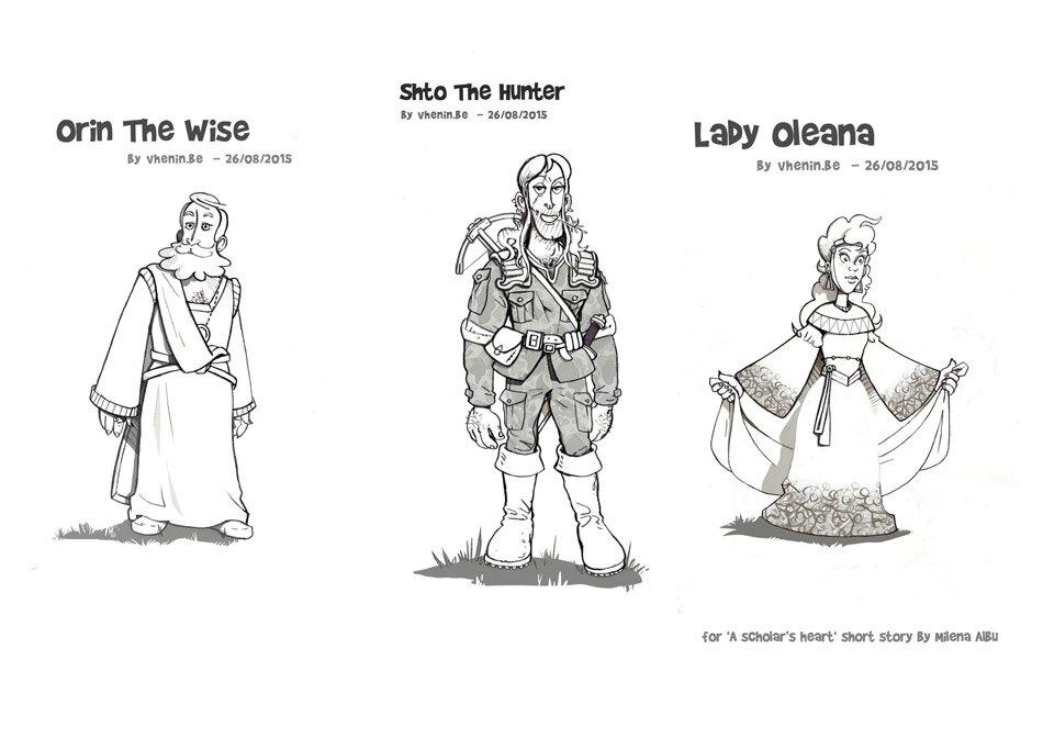Illustrations pour une nouvelle - 'A Scholar's Heart'