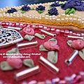 Perles et rubans de soie