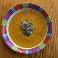 velouté carottes aux champignons et épinards