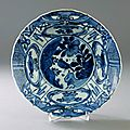 A Blue and White 'Kraak' Bowl, Wanli period (1573-1619). Photo Stockholms Auktionsverk