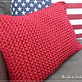Coussin rouge america