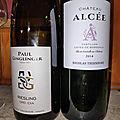 Alsace : Paul Ginglinger : Riesling Drei Exa 2019, Castillon-<b>Cotes</b> de <b>Bordeaux</b> : Alcée 2014