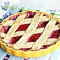 Tarte à la confiture rhubarbe et fraise