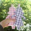 poupée jumelle en vichy