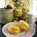 Macarons chocolat blanc/pêche