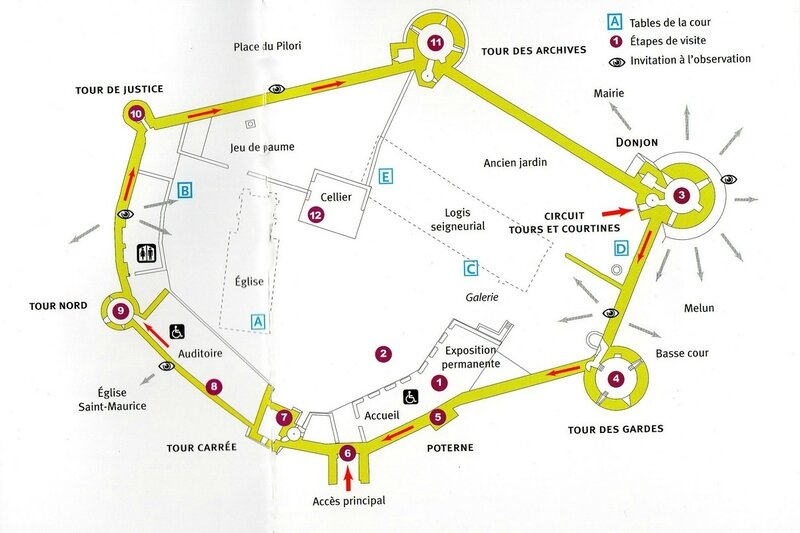 plan château Blangy les tours