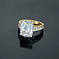 An important 8.10 carats type iia diamond ring, by cartier