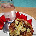 Tartelettes - crème amande/coco et à la confiture d'orange