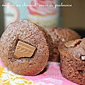 Minis muffins au chocolat, coeur de pralinoise
