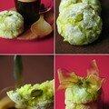 Biscuits macaronnés aux amandes et à la pistache