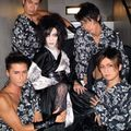 Backstage Picture. With His Dancers. Hyakki Yagyou Era.