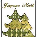 Etiquettes cadeaux à imprimer : sapins de noël