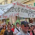 Pierre-Jakez Hélias sur la banderole