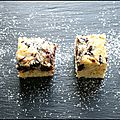 Blondies aux pépites de chocolat & aux tourbillons de mascarpone !