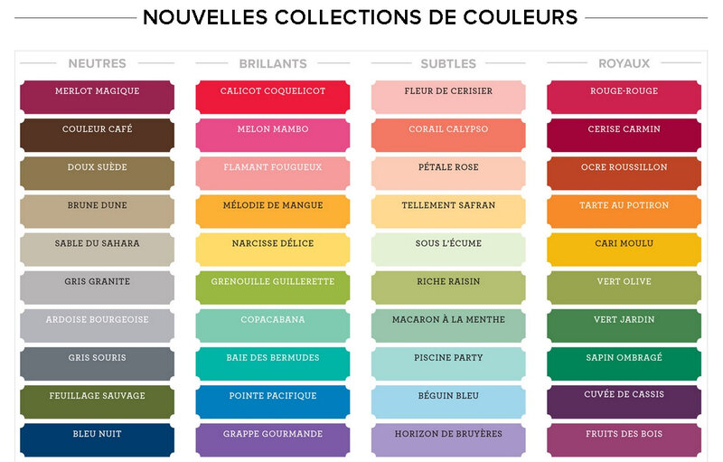 Collections de couleurs