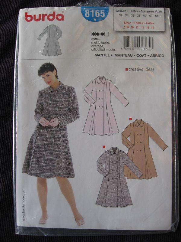patron manteau femme