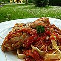 Poulet à la tomate et au chorizo