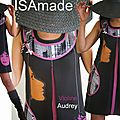 Robe trapèze chasuble de style sixties Violine Audrey