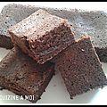 Brownie au chocolat et amandes