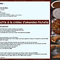 Galette crème d'amandes-nutella