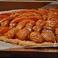 Tartes sucrées: tarte fine vanillée aux abricots.