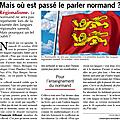 Langue et culture régionales: mais où sont les Normands?