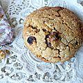 Biscuit beurre de cacahuète, flocons de grand épeautre, raisins secs, le biscuit dont je rêvais