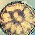Tarte poire chocolat noix de coco (au thermomix ou sans)