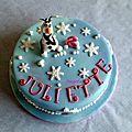 Gâteau olaf - la reine des neiges