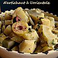 Salade de coeurs d'artichaut à l'orientale