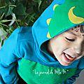 ▼▲ carnaval ▼ mon petit tricératops ▼ déguisement home-made avec les tissus dressy bond creavea ▼▲