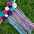 DIY banniere pompons boheme gipsy pompom banner lilybouticlou