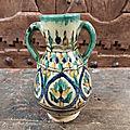 Petit Vase à Anses Céramique Tunisienne Kharraz <b>Tunisie</b> / Ref TU12
