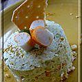 Bavarois surimi sur croustillant de biscuit