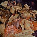 Sauté de dinde aux carottes et chou rouge