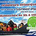 Marché dominical sur Larmor-Plage