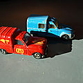 Renault 4 (ou 4L) et Dyane miniature, des <b>modèles</b> anciens Majorette particuliers et amusants, made in France !