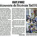 On en parle dans la presse… yaël hassan et le café littéraire d'octobre