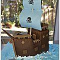 gâteau bateau pirate pate à sucre 4