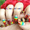 nail art rasta ,dancehall