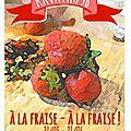 Tartelette coco, cheesecake aux fraises et caramel de rhubarbe