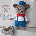 Petit ours, amigurumi, doudou au crochet