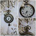 horloge bronze vintage blanche