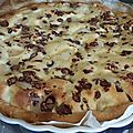 Tarte poire mascarpone (et reste d'oeufs au chocolat)