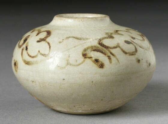 Jarlet with Cursive Floral Scroll, Vietnam, late 14th century