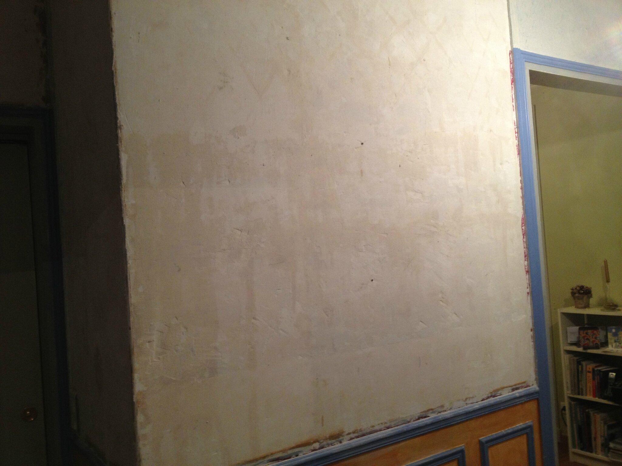 Un mur de l'entrée à nu!