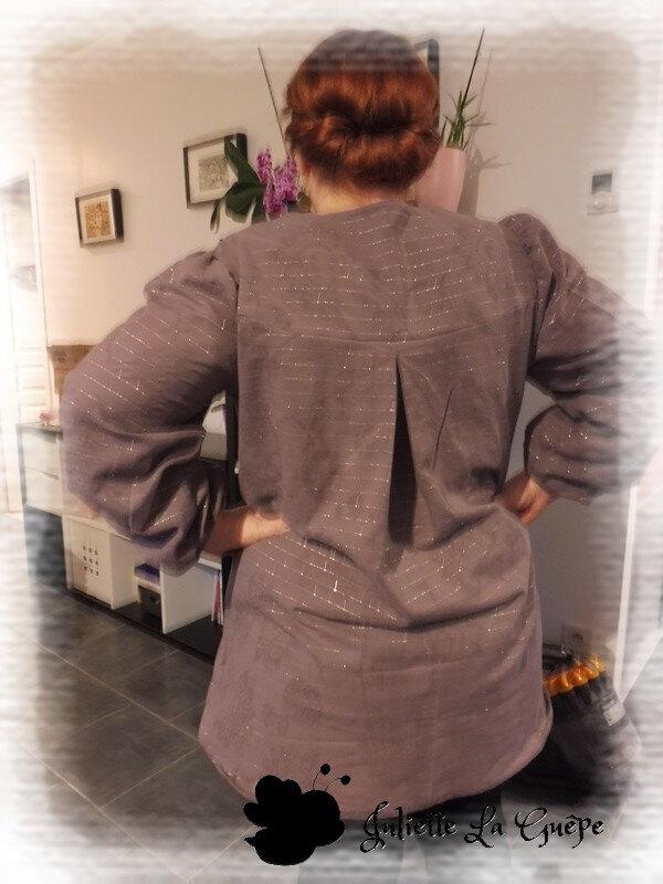 Tunik violette argenté1
