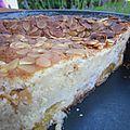 Gâteau moelleux aux pêches, nectarines & amande